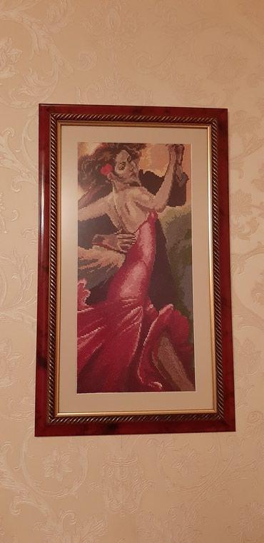 """Картина """"Испанское танго"""". Габелен(ручной вышивки). в Bakı"""