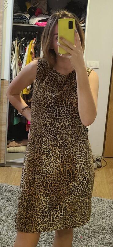 Dres velicina m - Srbija: Animal print haljina, marka Zebra, velicina M sa postavom, 94%
