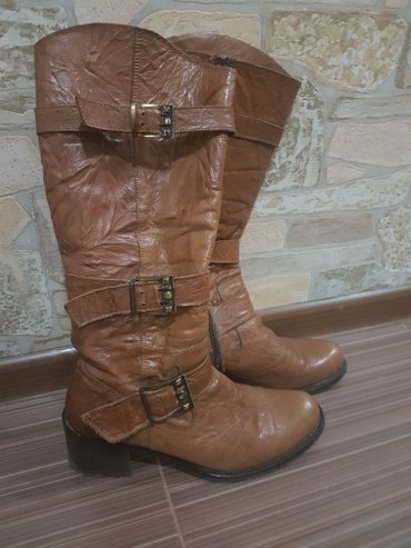Турецкие кожаные сапоги prima, размер 38, подходит на 39, большемерки. в Бишкек