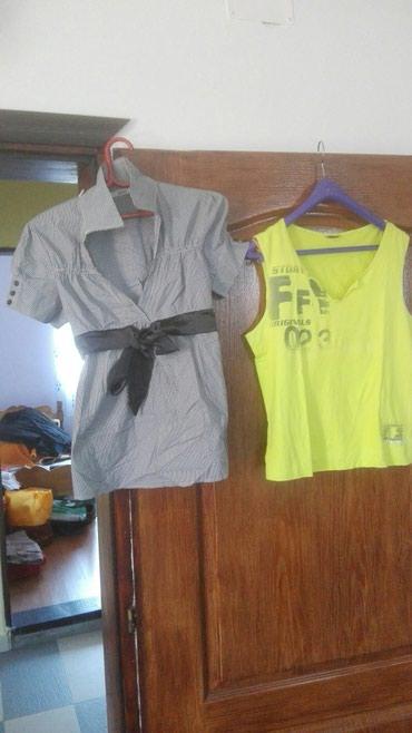I dinara - Srbija: Zenske majice,nosene par puta. cena zuta majica 100 dinara,kosuljica