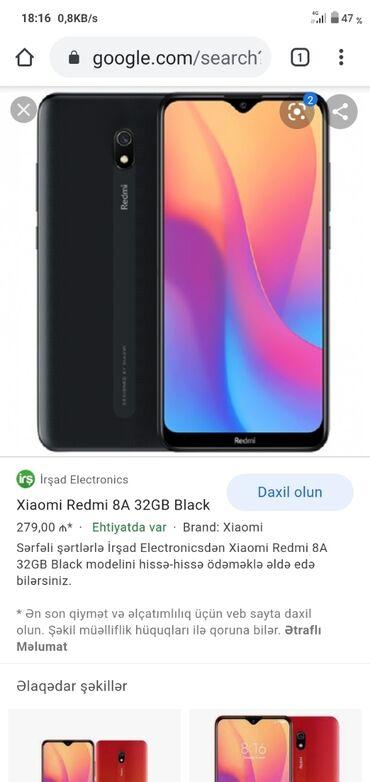 aro spartana 12 mt - Azərbaycan: İşlənmiş Xiaomi Redmi 8A 32 GB qırmızı