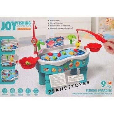 Joy Fishing Ground Table игрушка для рыбалки.  Игра включает 9 рыб, 2
