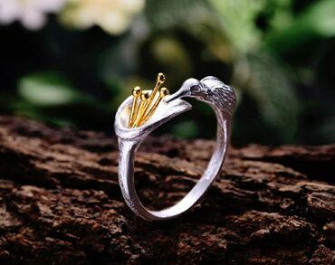 Кольцо из серебра 925 пробы с родиевым покрытиемИзделие ручной
