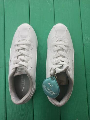 Мужская обувь - Джал: Продаю женские ботасы кроссы Puma белого цвета original размер 35. Оче