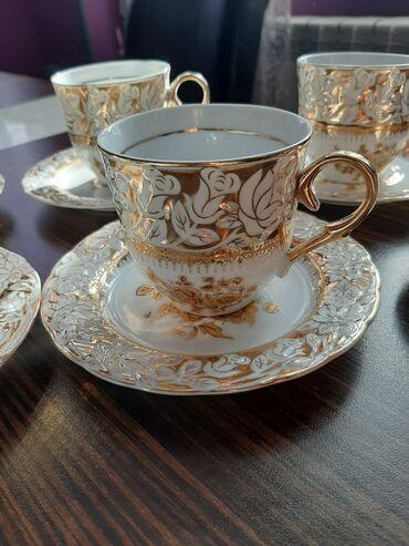 Новые чашки.Чехия+десертные тарелки. Локация Ени Ясамал