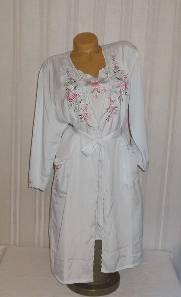 Пеньюар + сорочка японский шелк с вышивкой новая размер XL
