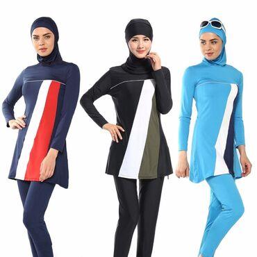 Синий-купальник - Кыргызстан: Мусульманские купальники     Из Турция  Качество : хорошее  Размеры
