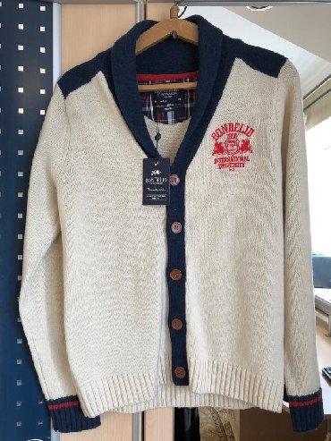 Теплая шерстеная кофта мужская Новая! размер s подойдет на m кардиган!