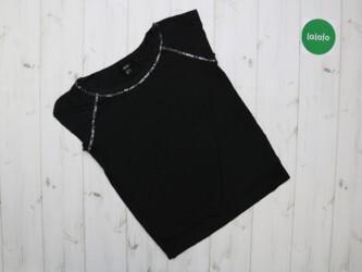 Женская футболка с декором из пайеток Mango, р. М    Длина: 56 см Пог