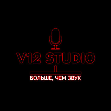 """Студия звукозаписи """"V12"""" приглашает всех желающих на профессиональную"""
