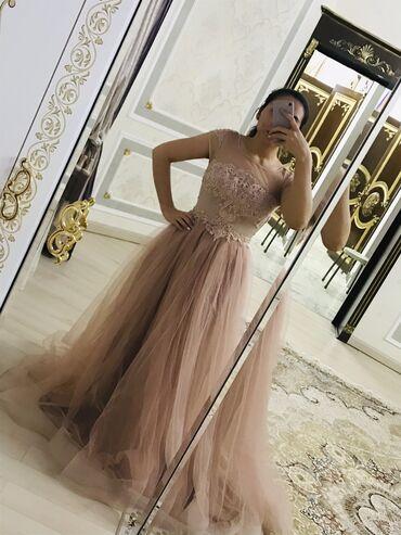 Шикарное пышное вечернее платье в пол. Рукава крылышки. Сшито на