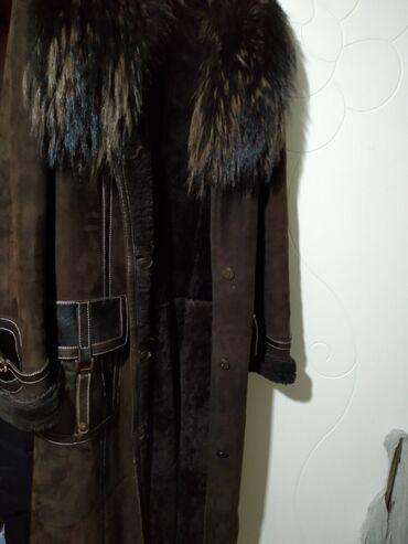 Женская одежда - Беш-Кюнгей: Дублёнка. Натуральный мех. Состояние отличное. Хорошая длина. Размер