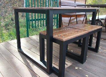 Изготовление садовой мебели. Скамейки,столы, стулья, полочки для