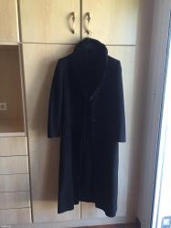 Μαυρο μακρυ παλτο σε αριστη κατασταση με αποσπωμενη γουνα μεγεθος 48 / σε Αθήνα