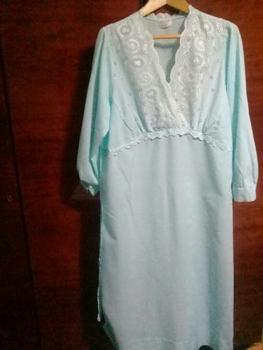 ночная рубашка, женская,р.48-50,голубая,  в Бишкек