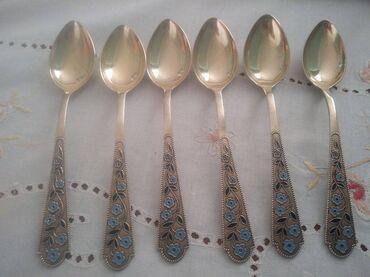 10377 elan   İDMAN VƏ HOBBI: Gümüş çay qaşıqları.Sssr vaxtının,Leninqrad Yuvelir zavodu