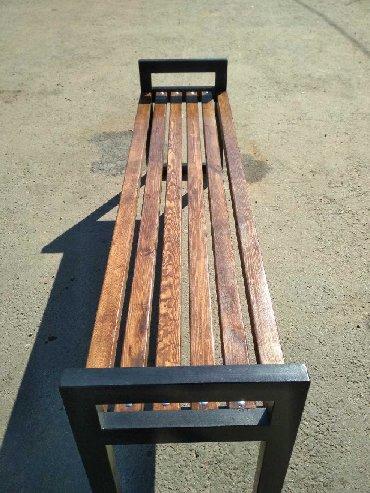 Мебель на заказ в Бишкек: Лавка. Скамейка без спинки на заказ
