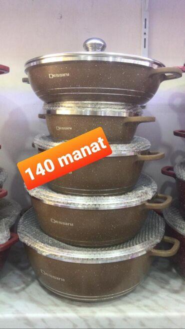 Qranit qazan dəstləri 140 manat endirimdə