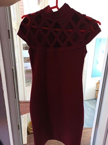 7 oglasa: Bordo haljina S veličine, 95% poliestera i 5% likre, kao nova