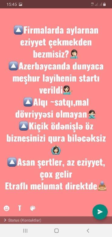 Поиск сотрудников (вакансии) в Азербайджан: ⏲Aylarla qazanc elde etmek ucun gozlemeye sebriniz yoxdursa,bizimle