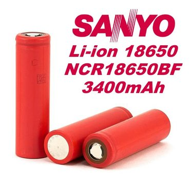 Sanyo ncr18650bf 3400 mah li-ion япония оригинал в Бишкек