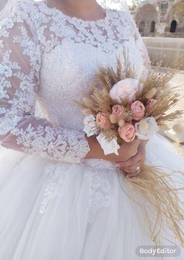 свадебное платье футляр в Кыргызстан: Свадебное платье модель «принцесса», надевалось 1 раз . После химчис