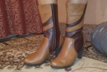 Турецкий сапоги осенний натуральный кожа за 3000