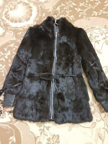 шуба сшили на заказ,кролик,с кожанными вставками,состояние отличное,см в Бишкек