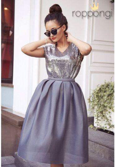 вечерние платья серого цвета в Кыргызстан: Продаю НОВЫЙ костюм от бренда roppongi. Цвет серый как на фото, размер