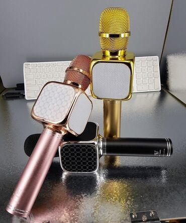 сколько стоит беспроводные наушники в Кыргызстан: Микрофон калонкаБеспроводная портативная колонка + караоке микрофон 2