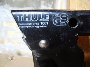 "Originalni ""THULE"" krovni nosač, bio montiran na Mazdu 323 sedan, - Novi Sad"