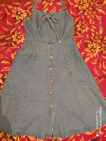 джинсовое платье для беременных в Кыргызстан: Джинсовый сарафан для беременных -500сом