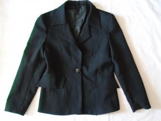 Sako-sirina-ramena-cm - Srbija: Crni sako. Veličina nije naznačena a mere su: ramena 44 cm, pazuh 48