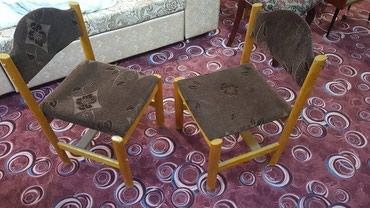 10 деревянных стула по 750 сом за штуку самовывоз в Бишкек