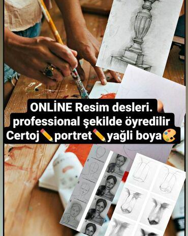 Reqs dersleri bakida - Азербайджан: Online resim kursu (yalnis xanimlar) Instagram seifemiz elage wp