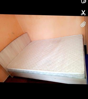 ОЧЕНЬ ОЧЕНЬ! Срочно продам двухспальная кроват +матрасом в Ош