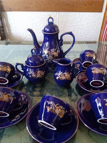 Kuhinjski setovi - Kraljevo: Servis nov plavi kobalt za kafu. vis.bokala. 20cm. posuda za