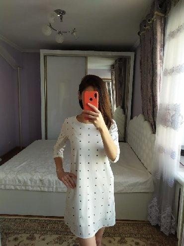 белое летнее платье в Кыргызстан: Летнее платье, размер S. Цена 500 сом