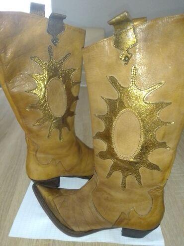 Kaubojke - Srbija: Kaubojke,bez,sa zlatnim detaljima.Made in Italy.Kao nove