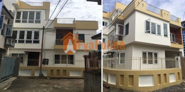 A beautiful new full furnished flat system house having land area in Kathmandu
