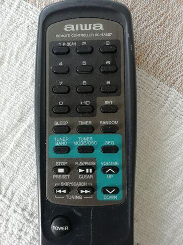 Daljinski Aiwa 6AS07. Za audio uređaje. Preuzimanje lično ili