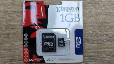 Карта памяти Kingston micro SD 1ГБ, новая, оригинал.Открывалась только