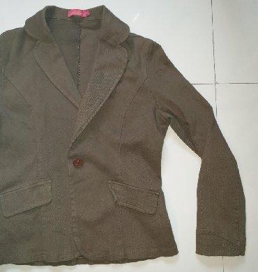 Moderna kratka bunda - Srbija: Moon face sako blejzer, kratka jakna.Maslinasto zelene boje.Fazonski