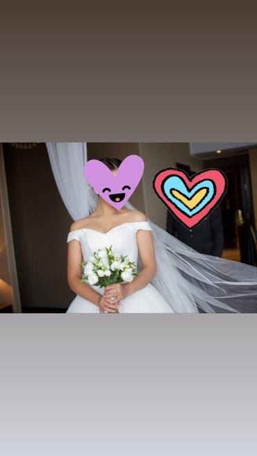 Свадебные аксессуары - Кыргызстан: Продаю свое свадебное платье, одевала естественно один раз, покупалось
