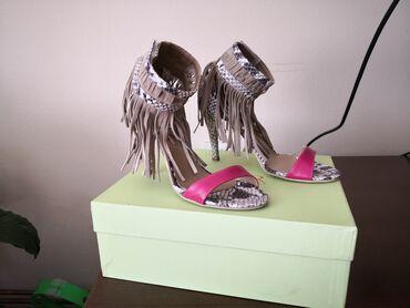 Ženska obuća | Cacak: Cler italijanske kožne sandale, broj 36, NOVO . Kvalitetne i