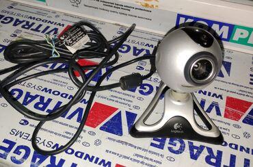 Веб-камеры - Кыргызстан: Веб камера Logitech, состояние отличное, на win10 работает