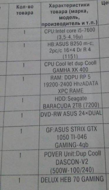 hdd 2tb в Кыргызстан: Продаю системный блок со следующими характеристиками CPU:Intel Core