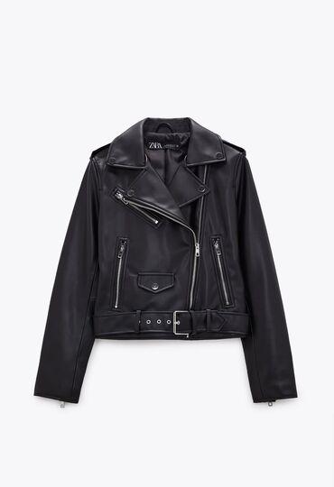 Куртка из экокожи Zara оригинал из Москвы. Размер М. Доставка по