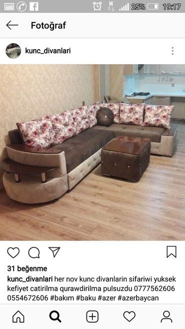 Bakı şəhərində Kunc divanlarin sifariwi  butun sekiler reyaldi  muwdernin evinde