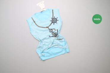 Топы и рубашки - Новый - Киев: Дитяча майка з морським принтом Umka, вік 10 р., зріст 140 см    Довжи